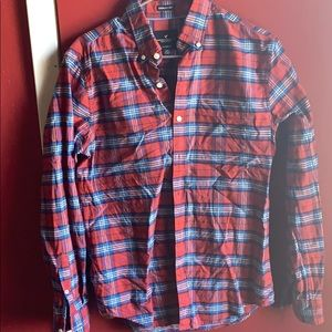 Plaid American Eagle Button-Up Shirt (Small)